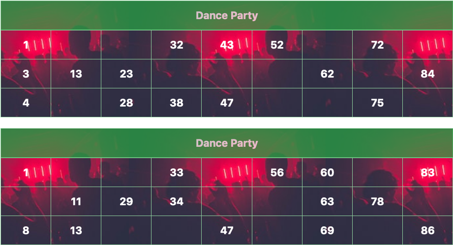 green dance party tambola tickets