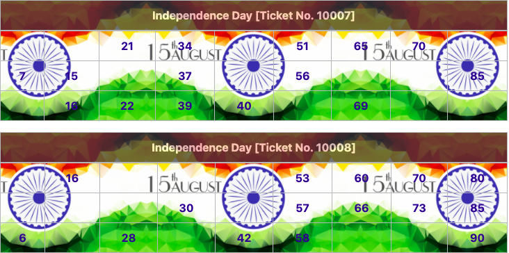 independence day tambola tickets